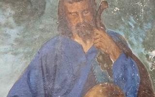 Fresko vor der Restaurierung